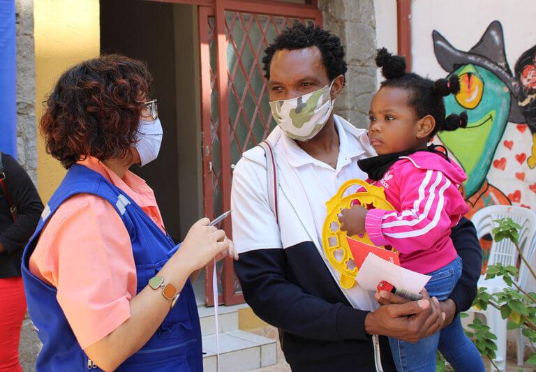 OIM e Centro de Atendimento ao Migrante proporcionam alimentação a 75 famílias impactadas pela pandemia