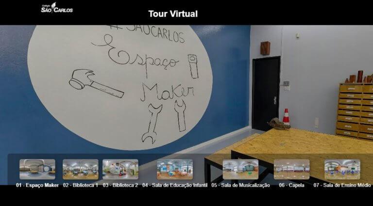 Colégios São Carlos e Nossa Senhora de Lourdes têm tour virtual