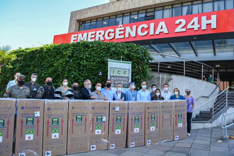 Hospital Mãe de Deus recebe doação de equipamentos de ventilação mecânica
